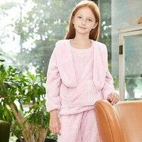 Toddler Girls Pajamas Set Kids Clothes Loungewear Coats + Pants Kids Sleepwear Set Teenage Girls Clothing Set Christmas Clothes