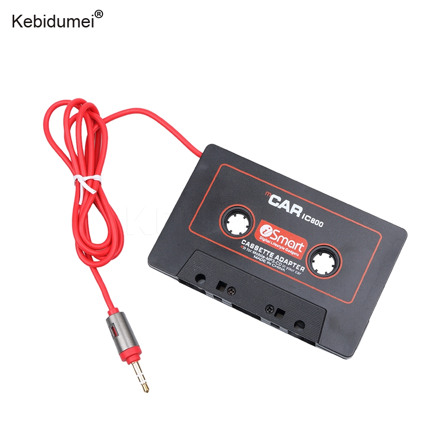 kebidumei Tape Adapter Universal Car Cassette Mp3 Player Converter 3.5mm Jack Plug For iPod For iPhone AUX Cable CD Player