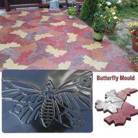 Forma de borboleta piso molde de pedra pavimentação molde de assoalho manualmente cimento concreto piso pedra molde estrada fazendo ferramenta pavimentação mo|Moldes de pavimentação|   -