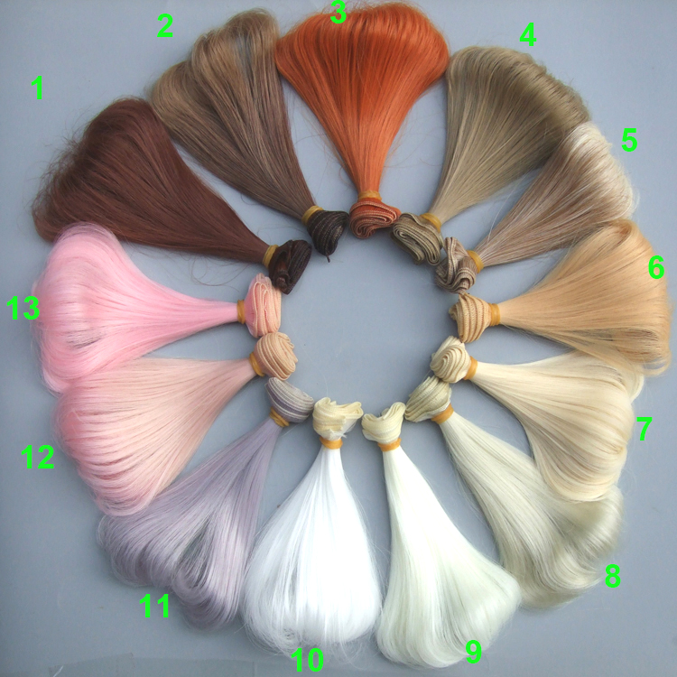 wholesales factory sullier 15cm curly wavy doll wigs / SD AD BJD doll diy wigs for blyth BJD doll hair 8 colours colorful curly hair party cosplay long wavy wigs