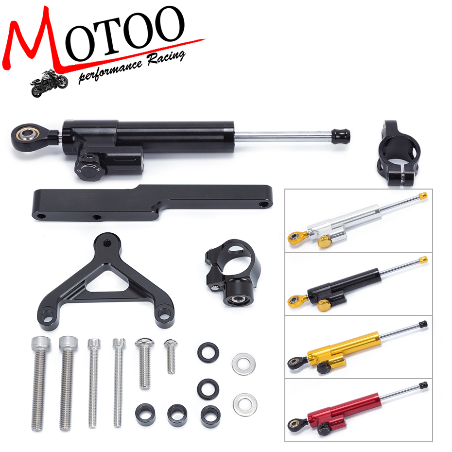 Motoo - FREE SHIPPING For HONDA CB1000R 2008-2016 Motorcycle Aluminum Steering Stabilizer Damper Mounting Bracket Kit fxcnc aluminum motorcycle steering stabilizer damper mounting bracket support kit for yamaha fz1 fazer 2006 2015 2007 2008 09