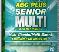 Pride ABC Plus Senior Multivitamin Multi Mineral Formula 120 Heart Healthy Supplement High Quality Blends Of