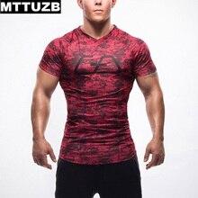 MTTUZB Man fitness bodybuilding costume men's casual slim short sleeve t shirt male Clothing men tops M L XL XXL free shipping
