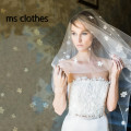 2017velos De Novia New Flower Short Lace Wedding Bridal Veil Accessories Veu De Noiva Longo Direct Selling Voile Mariage