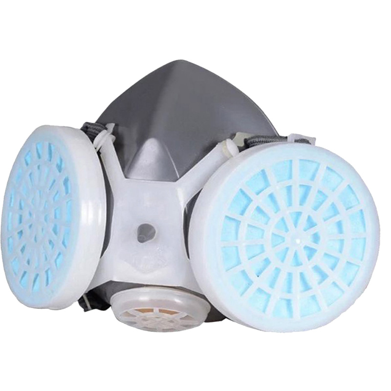 Anti Dust Respirator Mask Filter Polishing Industrial Paint Spraying Decorate Protective Mask Workplace Safety Respirator high quality respirator gas mask provide silica gel gray protective mask paint pesticides industrial safety mask