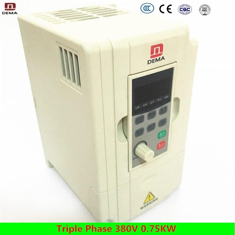 DEMA D5M serie Triple fase 380 V 0.75KW sistema de bomba de agua Solar convertidor de frecuencia 50/60Hz frecuencia automática inversor de la energía