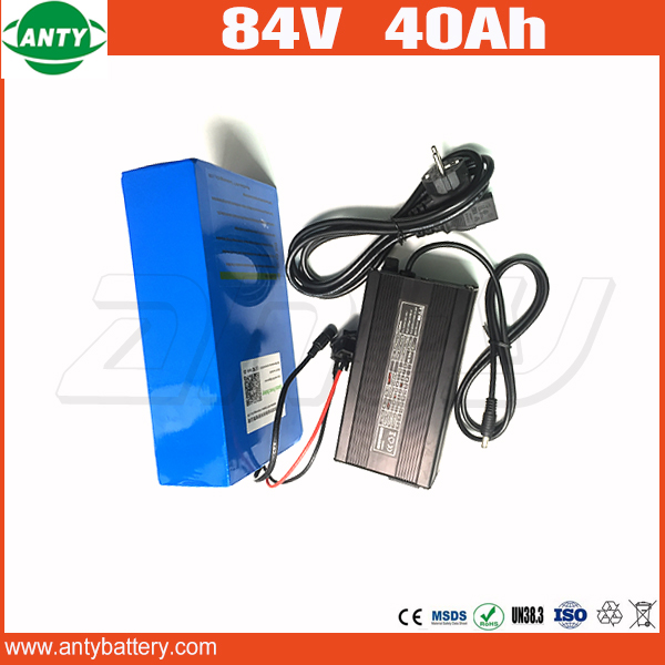 E-Bike Battery 84v 40Ah 3000w High Capacity Lithium Battery with 50A BMS 5A Charger Electric Bicycle Battery 84v Free Shipping free customs taxes customized 72v 40ah lithium battery pack for e bike electric scooters ev e bikes with charger and 50a bms