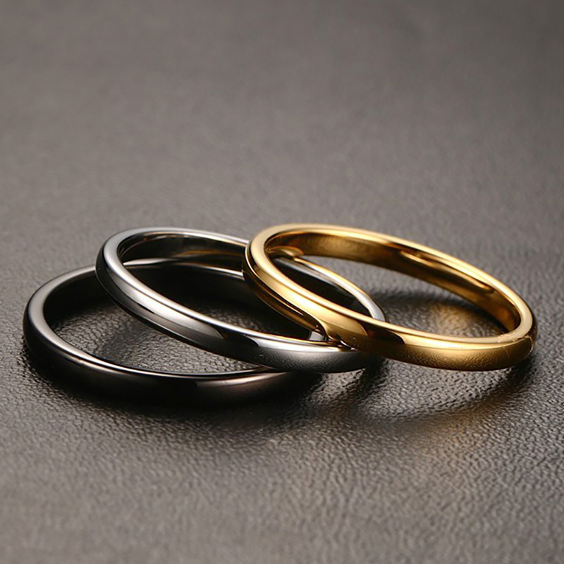 2016 simple style trendy 2 mm tungsten carbide engagement