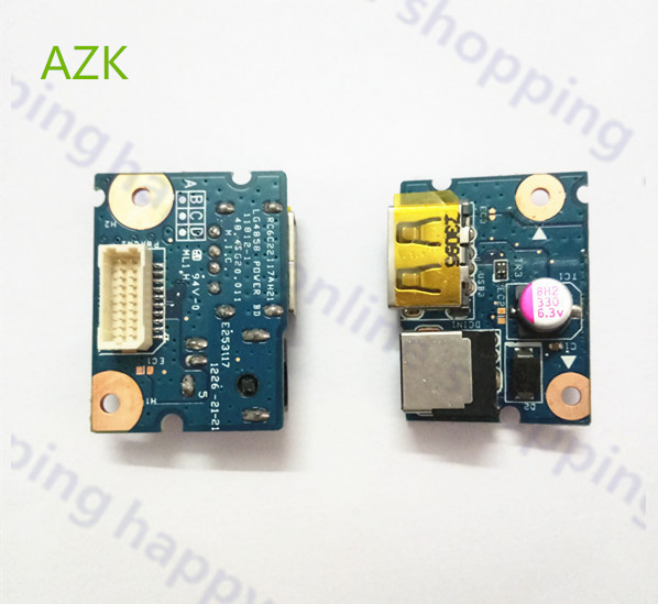 US $7 5 |AZK NEW Laptop Parts DC Power jack Board and USB port for Lenovo  G480 G485 G580 554SG03 001G-in Mobile Phone Flex Cables from Cellphones &