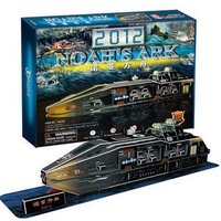Candice guo! New arrival hot sale 3D puzzle toy 3Dpaper model 2013 doomsday Noah's ark