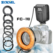 Meike FC-110 FC110 LED Macro Ring Flash Light for Nikon D500 D5 D7500 D3400 D3300 D810 D800 D750 D7200 D5600 D5500 D5300 D5200(China)