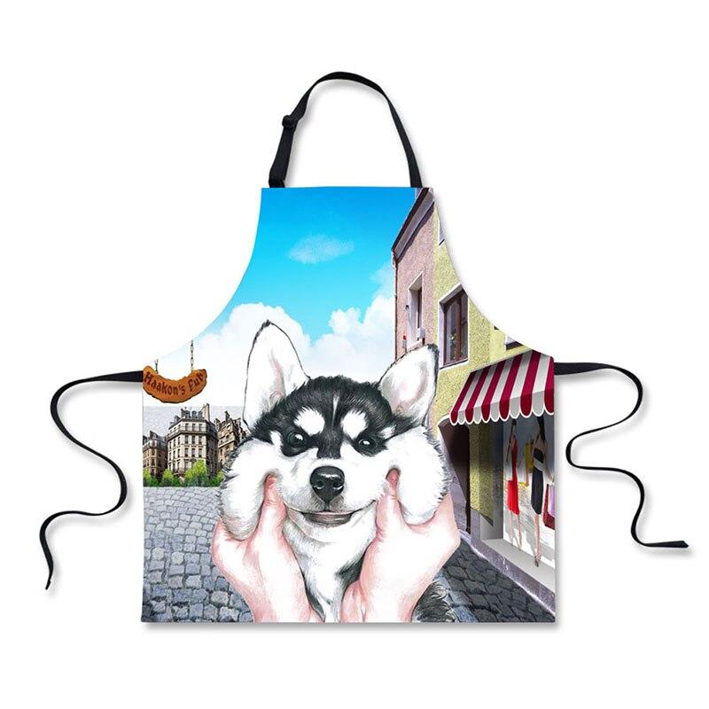 Liefdadig Hoge Kwaliteit 3d Printing Honden Patroon Thuis Leisure Mode Keuken Benodigdheden Schorten