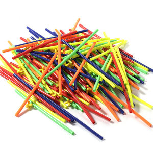Image 5 - 500 Pcs พลาสติกเด็ก 4D Straw Building Blocks Joint ตลก Development ของเล่น