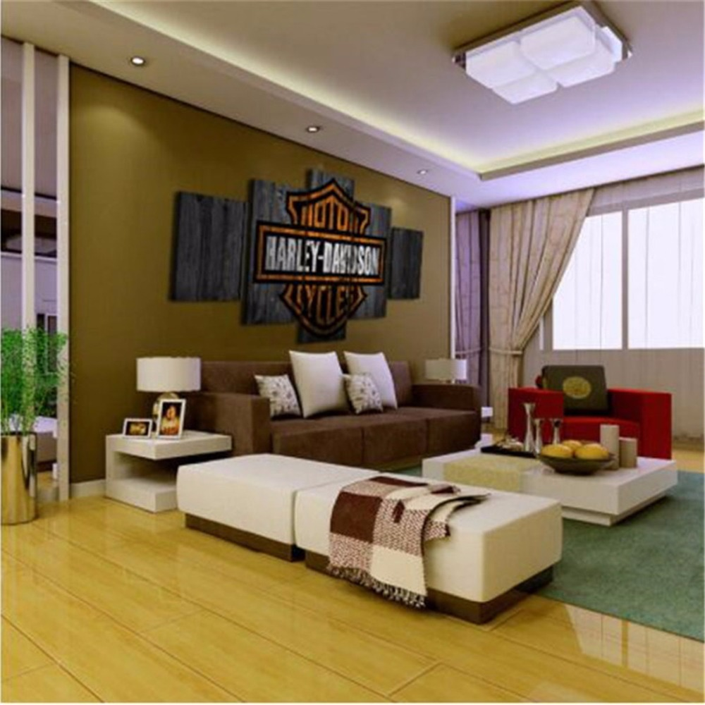 5 Panels Waterproof Canvas Painting Sports Illustrated HD Print Living Room Wall Hanging Art Oil Prints Pictures Modular Poster