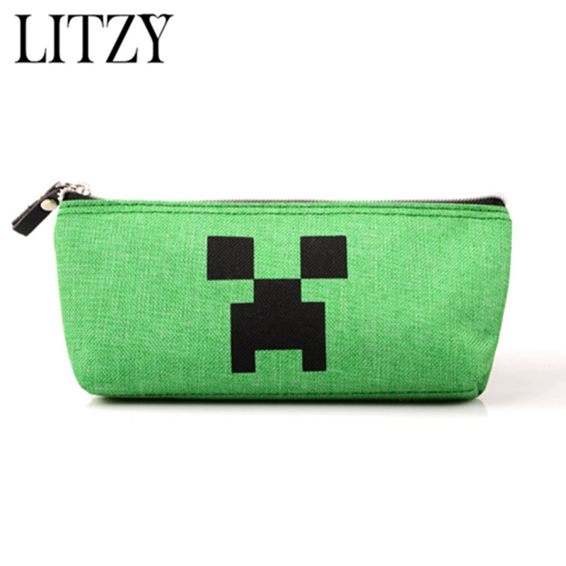 Minecraft Pencil Case For Boys School Supplies Bts Stationery Gift School Pencil Box Pencilcase Pencil Bag Kawaii School Tools new leather pencil case bag for school boys girls vintage pencil case box stationery products supplies as gift for student