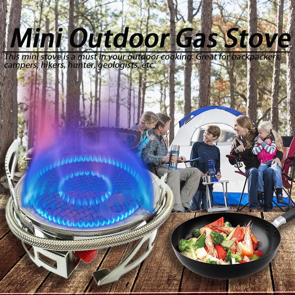 B15 Mini Extérieure Cuisinière À Gaz Puissant Pliable Cuisson Camping Split Brûleur