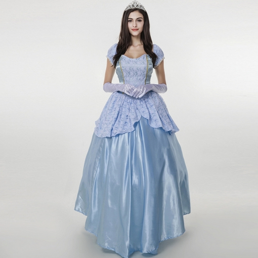 European and American women's clothing blue palace Halloween Costumes Sissi Cinderella dress queen stage play dress