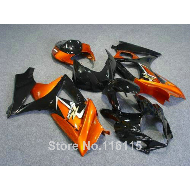 High quality ABS fairing kit for SUZUKI GSXR 1000 2007 2008 K7 K8 black copper bodywork fairings set 07 08 GSXR1000 JS35 цена