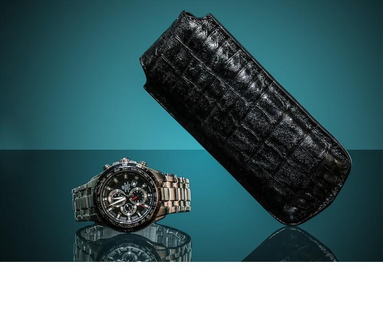 Topanta e lartë e shikimit të vetëm prej lëkure Moda Watch Black - Aksesorë për orë - Foto 5