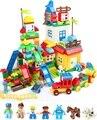O envio gratuito de alta qualidade 200 pçs/set = 6 cenas diferentes diy blocos de construção de brinquedos para as crianças o melhor presente de aniversário de natal nenhuma caixa