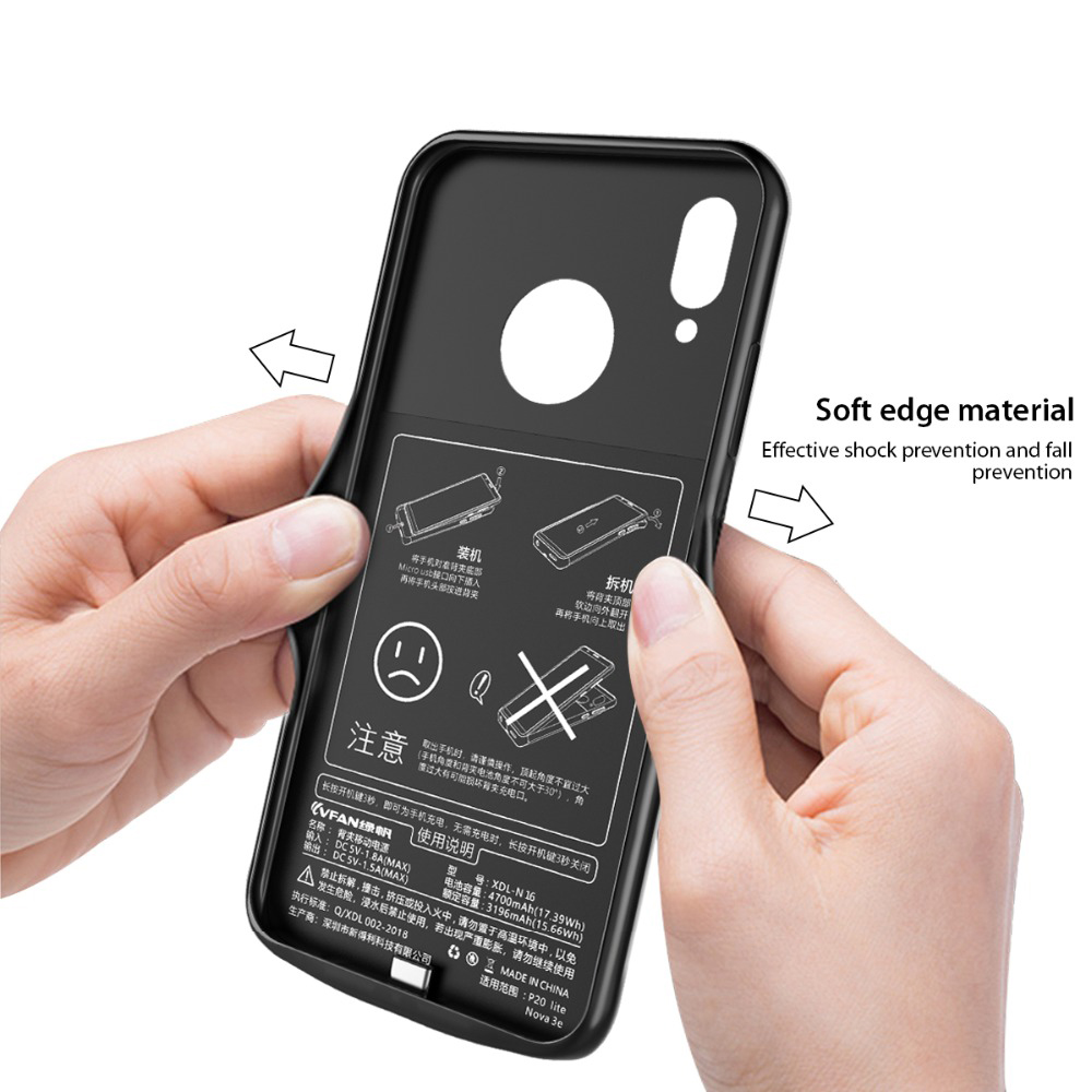 Image 5 - Silm Shockproof battery charger case For Xiaomi Redmi Note 7 charger Cover Backup power bank battery power pack Redmi Note 7 Pro-in Battery Charger Cases from Cellphones & Telecommunications