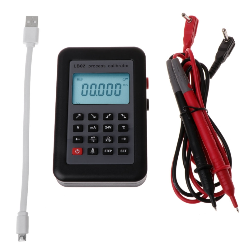 LB02 Resistance Current Voltmeter Signal Generator Source Process Calibrator 4-20mA/0-10V/mV LCD Display Update from LB01 lb02 vention cat7 network cable rj45 flat lan cable cat 7 ethernet cable 1 5m 2m 3m 5m 10m 15m rj45 patch cable for pc router laptop