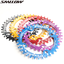 Bicycle Crank 104BCD Round Shape Narrow Wide 32T/34T/36T/38T MTB Chainring Chainwheel Bike Circle Crankset Single Plate