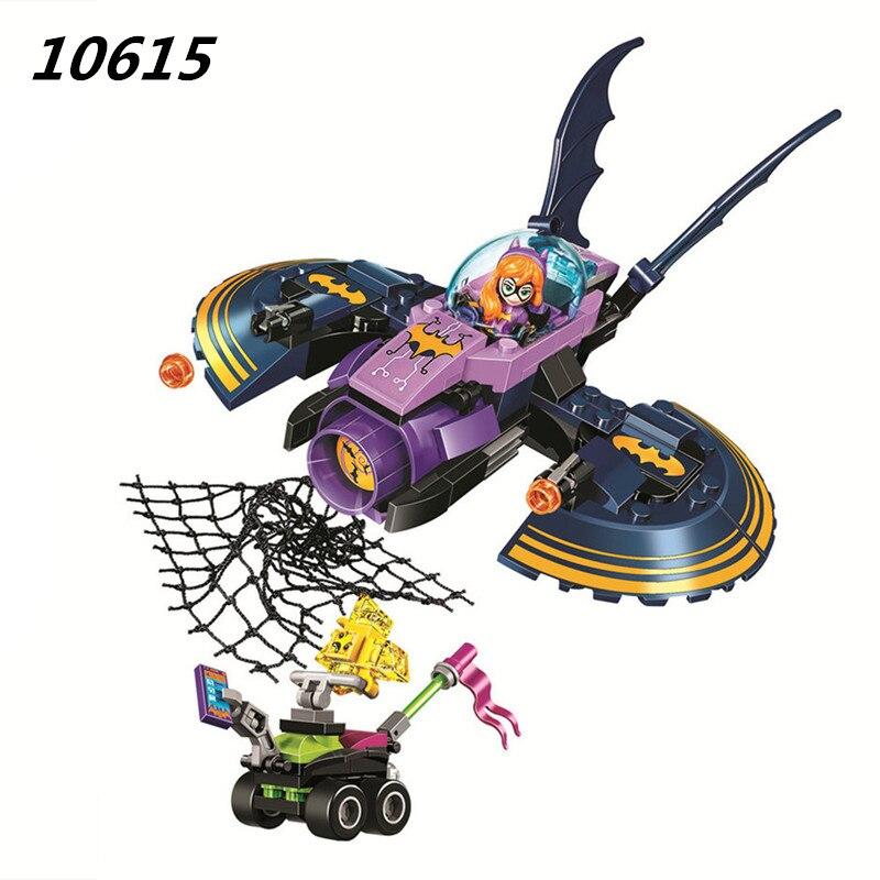 Super Hero Girls Batgirl Batjet Chase 10615 Building Blocks Set Kids DIY bricks Toys Kryptomite buggy Compatible 41230 Toy building blocks pg966 the twelfth doctor idea021 doctor who set 21304 super hero action bricks kids diy educational toys hobbies