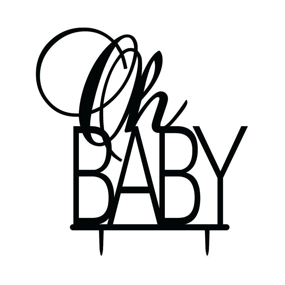 Aliexpress.com : Buy Oh Baby Birthday Cake Topper Baby ...