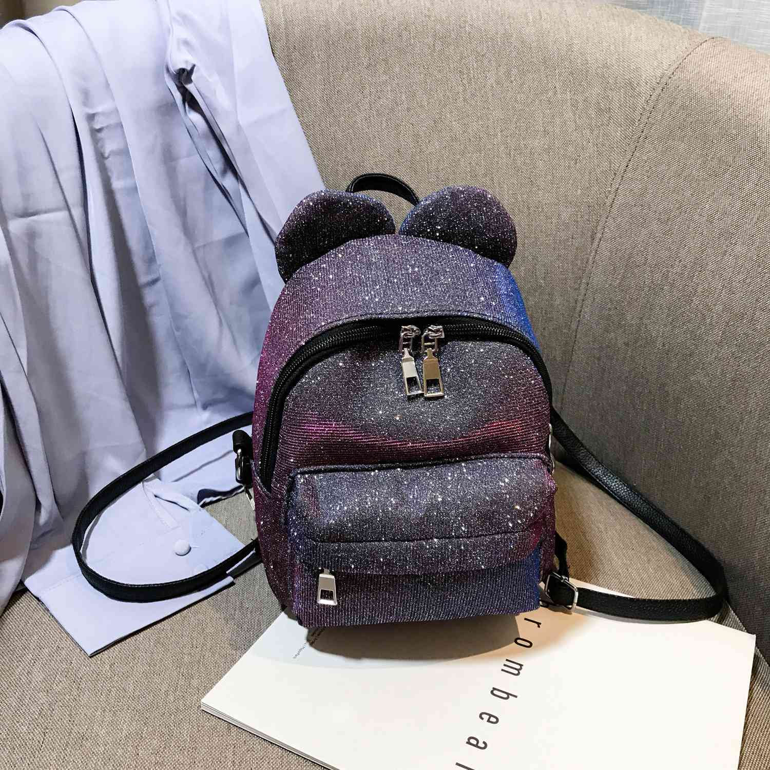 FGGS-Portable Women Sequins Backpack Girls Mini School Bags For Teenage Girls Backpack Women Small Travel BagFGGS-Portable Women Sequins Backpack Girls Mini School Bags For Teenage Girls Backpack Women Small Travel Bag
