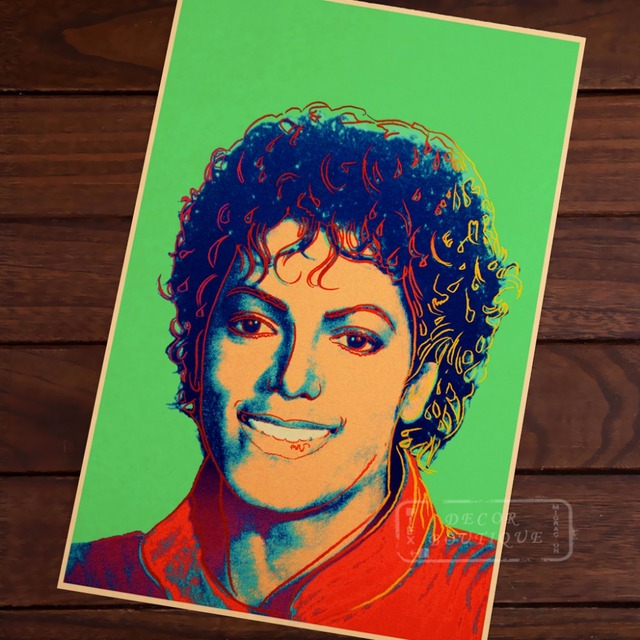 Michael Jackson Smile Pop Art Andy Warhol Vintage Clic Retro Canvas Painting Frame Poster Diy Wall
