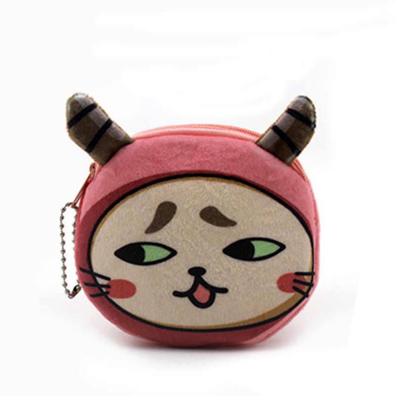 YIYOHI Gatos vêm em 3D Impressão Bonito Do Gato De Pelúcia Com Zíper Saco Mulheres Carteiras Coin Purse Crianças Kawaii Mini Bolsa de Mudança Bolsa