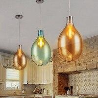 wine bottle pendant lamp light hanging home lighting restaurant living room bar modern color shade creative glass chandelie