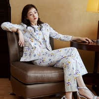 2019 Spring Women Fashion Floral Printed 3 Pieces Set Office Lady Work Business Blazer + Tank Top + Ankle Length Pants Set Y249