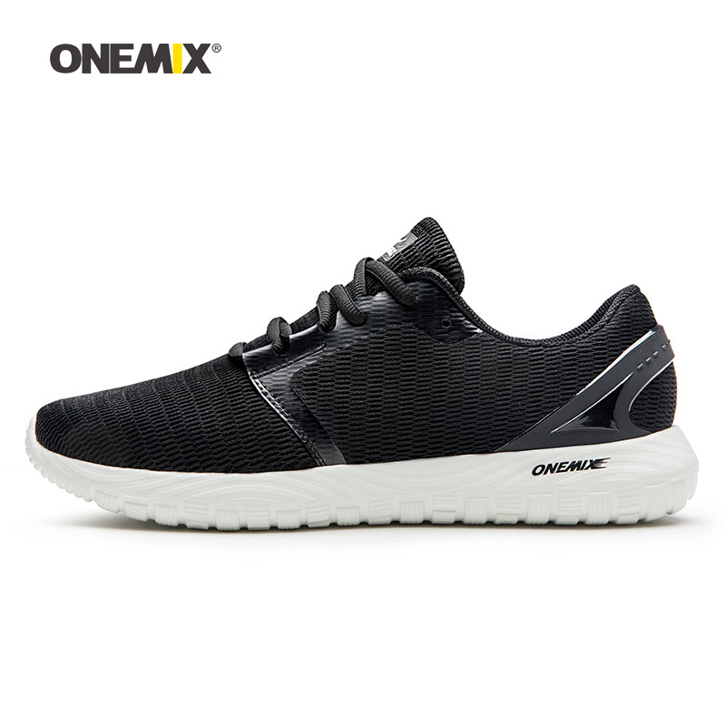 Onemix Men Running Shoes for Women Black Mesh Breathable Designer Classic Trail Jogging Sneakers Outdoor Sport walking Trainers onemix brand outdoor running shoes men s sneakers elastic women jogging shoes black trainers sport air shoes breathable mesh