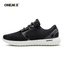 Onemix Men Running Shoes for Women Black Mesh Breathable Designer Classic Trail Jogging Sneakers Outdoor Sport walking Trainers(China)