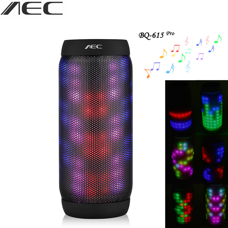 Bluetooth Speaker AEC LED Stere Support TF Card FM Radio Wireless NFC Super Bass Subwoofer Sound