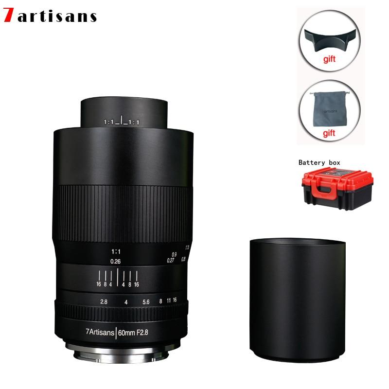 7artisans 60mm f2. 8 1:1 magnification macro lens is suitable for the Canon EOSM EOSR E Fuji M43 nikon z Mount