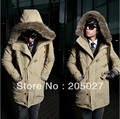 2013 autumn winter plus size 3xl men wadded jacket male with a hood outerwear winter jacket  men coat 1.1kg high quality