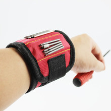 Portable Magnetic Wristband Tools Bag 1680D Magnet Belt Screw Nails Drills Bits Holder Tool Repair Kit for Holding Tools(China)