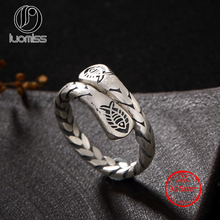 цены S925 Sterling Silver retro matte old fish personalized wild female open ring wholesale generation...