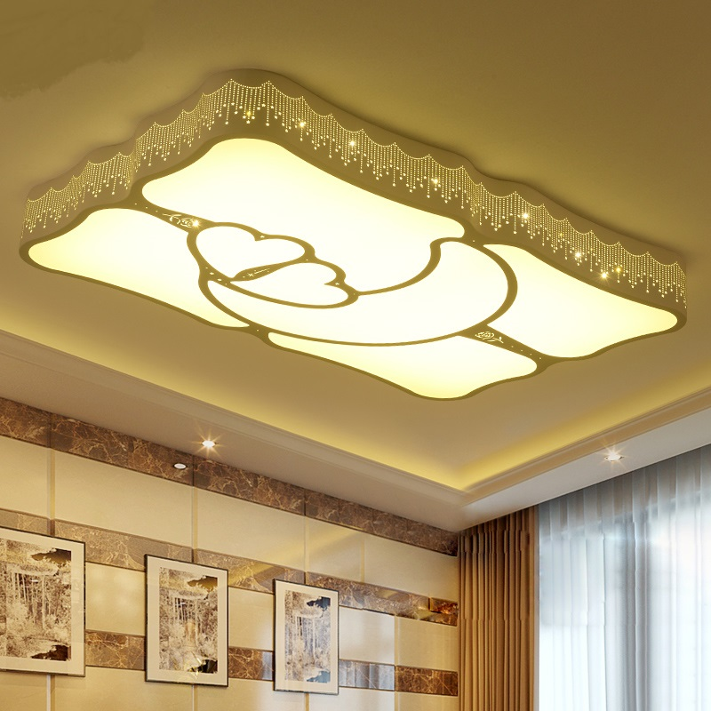 Simple Modern Living Room Lights Rectangular Ceiling Light