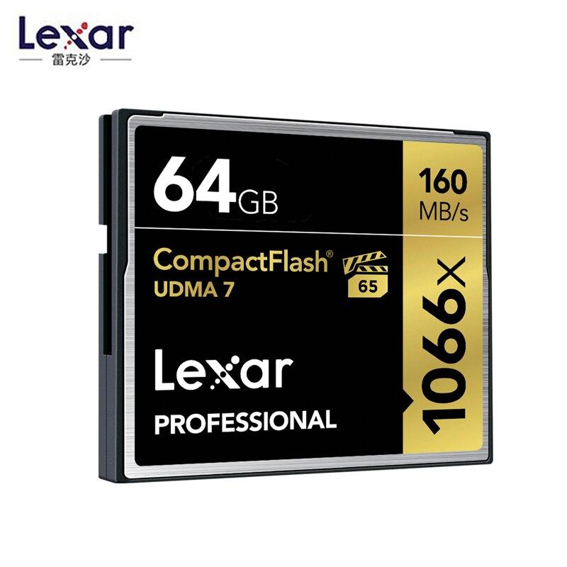 Lexar 160MB/s Brand 1066x 128GB CompactFlash CF Memory Card For Canon Nikon DSLR Camera HD Camcorder 1080p 3D 4K DV Video DV Dev