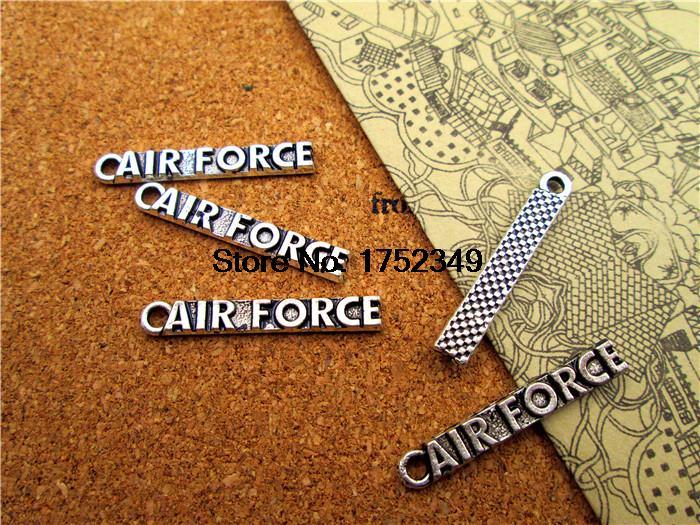 10pcs- Antique silver Air Force Charm pendant 30x5mm Air ForceCharms