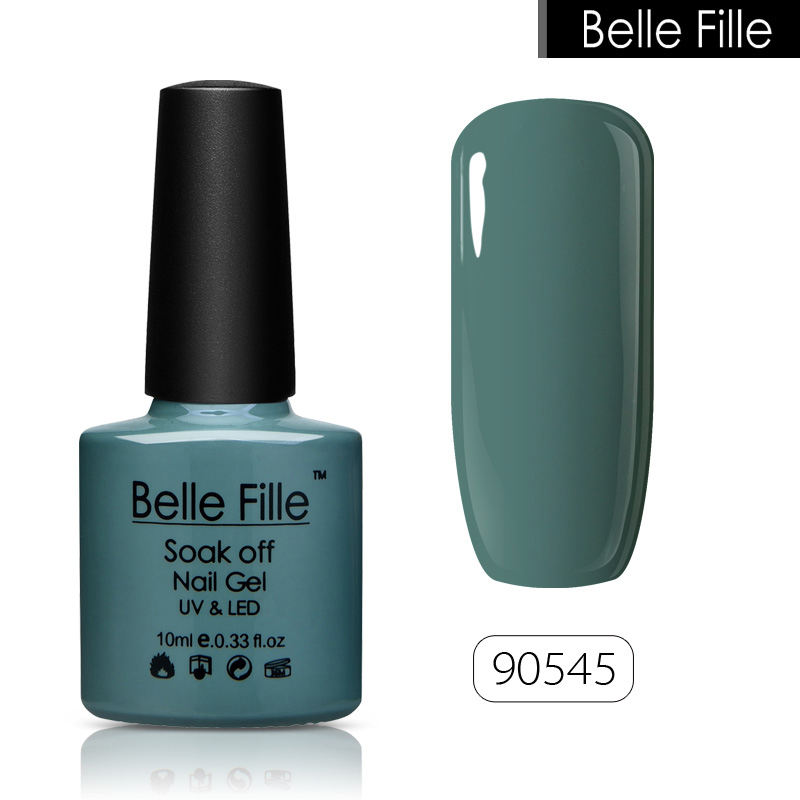 Belle Fillle Nail Gel Polish Green Series Color Olijfgroen Gel Polish UV Led Laken Spring Tender Green Nail Art Vernis