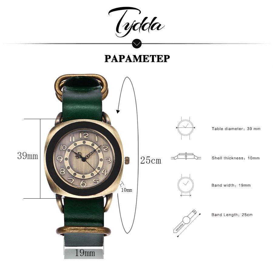 Tydda merk damesmode creatieve lederen armband horloges casual - Dameshorloges - Foto 6