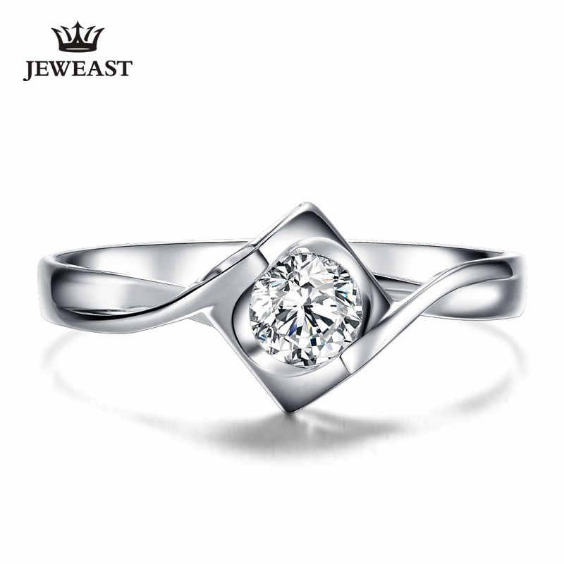 Anel de diamante natural 18k ouro mulher amante casal aniversário romântico propor noiva festa de casamento sul africano 2017 novo bom