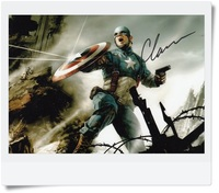 Signé Chris Evans autographiée photo originale Captain America 7 pouces freeshipping 2 versions choisi 062017