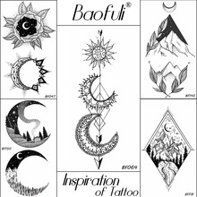Grosir Crescent Moon Tattoos Gallery Buy Low Price Crescent Moon