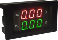 Dc100v/20aシャント電流計電圧計デジタルledアンプ電圧テスターメーター12ボルト24